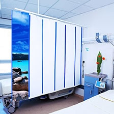 Paravent hospitalier MED-Activ Classic Médicascreen en grande chambre double