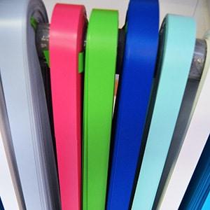 12 couleurs de galons au choix pour la personnalisation de vos paravents Médicascreen ®