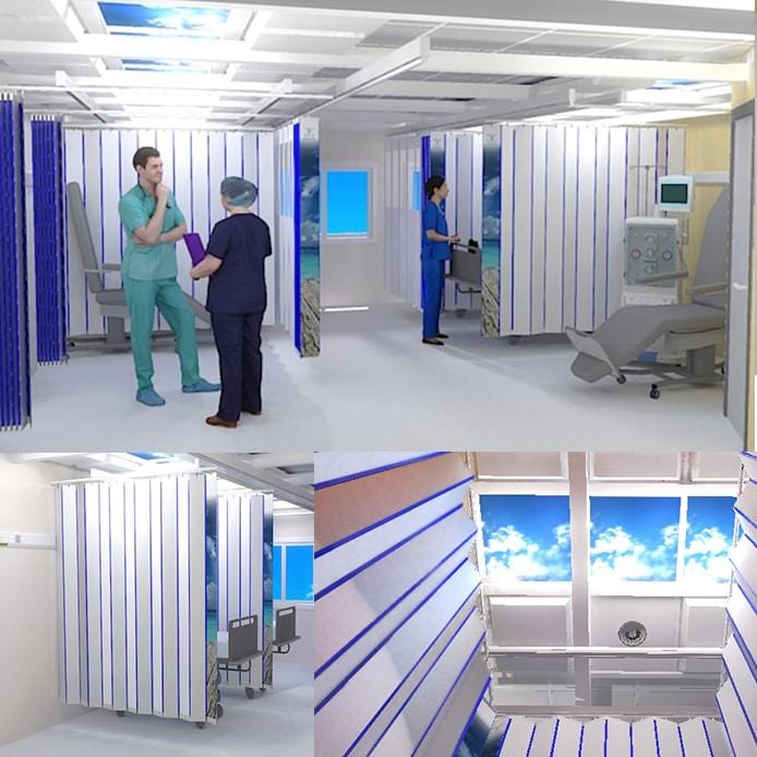 Med AMBU, le box hospitalier modulaire par Médicascreen