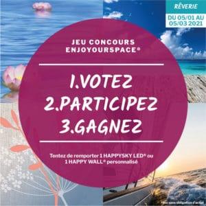 Jeu concours Enjoyourspace 2021 - Votez pour votre décor de l'hiver et remportez des cadeaux HAPPYLINE !