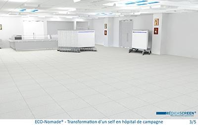 BD-ECO-Nomade - Transformation d'un self en hôpital de campagne 3