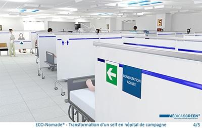 BD-ECO-Nomade - Transformation d'un self en hôpital de campagne 4