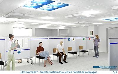 BD-ECO-Nomade - Transformation d'un self en hôpital de campagne 5