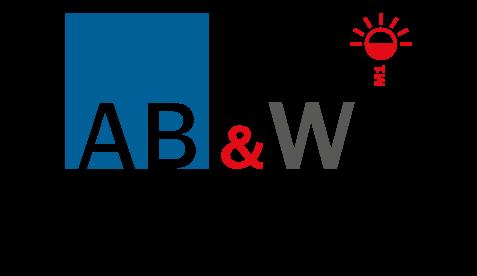 Logo AB&W®, confection installation rideaux et stores M1 pour les professionnels