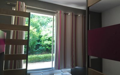 4110 - rideaux internat tissu imprimé